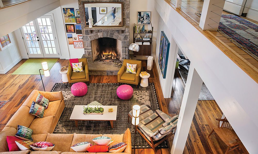 Delightful A View From Above, Shows The Bright Use Of Color In The Olmsted Home. The  Open Floor Plan Allows For The Space To Be Very Livable, And Perfect For A  Young ...