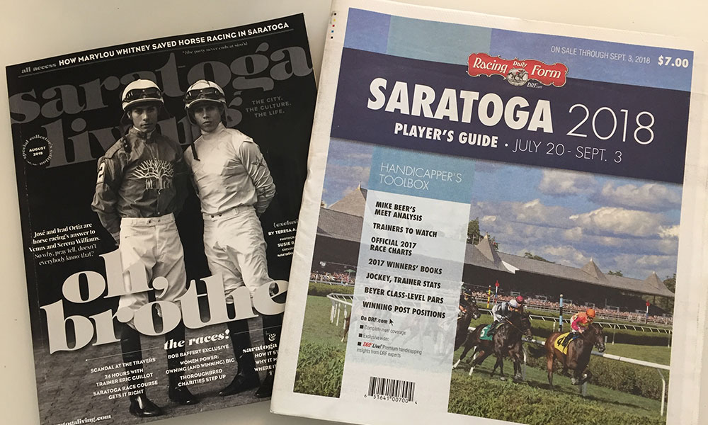 And We're Off! 'saratoga living,' Daily Racing Form Strike