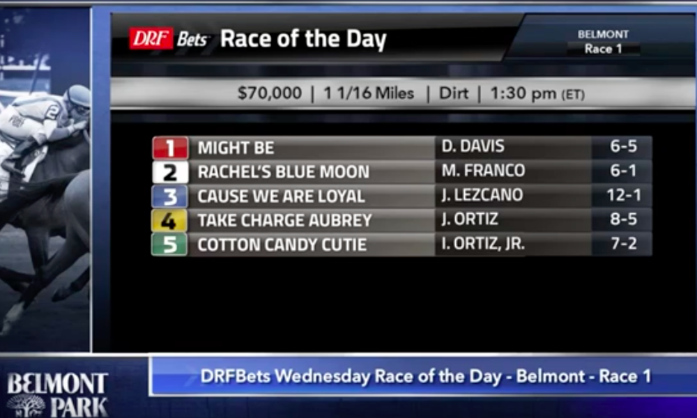 Daily Racing Form Wednesday September 26s Race Of The Dayrace 1
